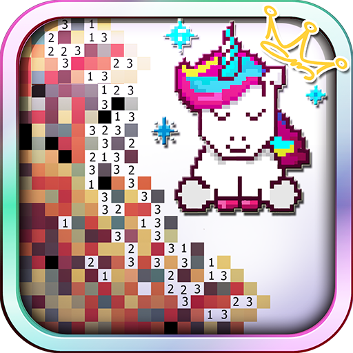Unicorn of Love: The Number Coloring by Pixel Arts