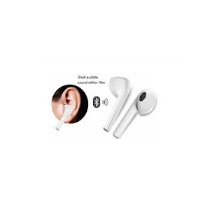 Casti Bluetooth Handsfree, I7 TWS 2018, fara fir, Albe