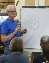 Photo: David explains how to make an insert to hold the blank off center in your chuck.
