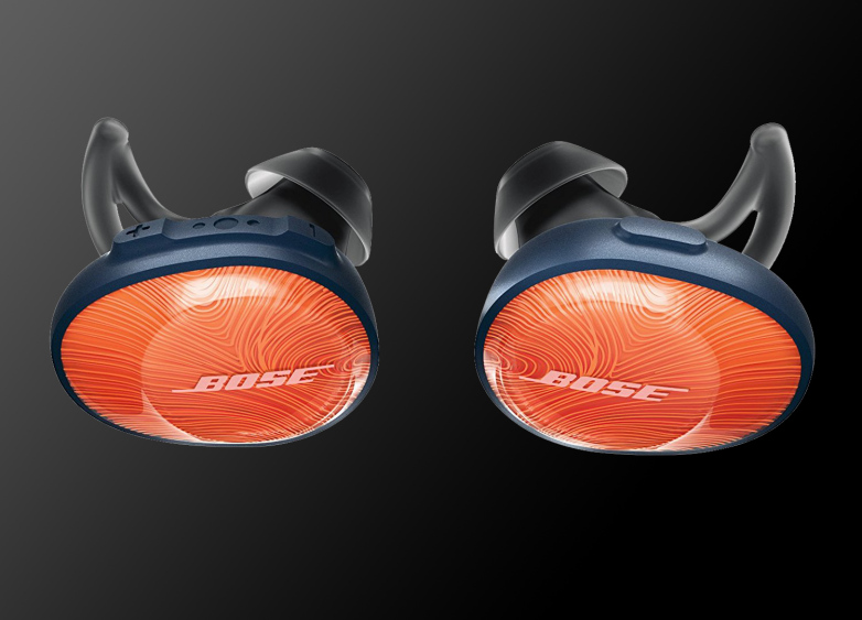 A pair of Bose wireless headphones