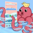 Cartoon Painting Sea Theme icon
