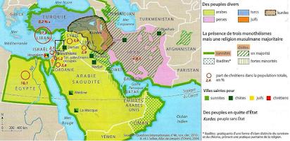 moyen orient carte du monde Des cartes pour comprendre le monde   Professeur Massé