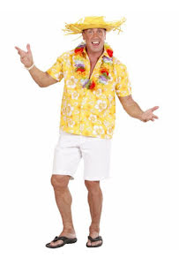 Hawaiiskjorta, gul