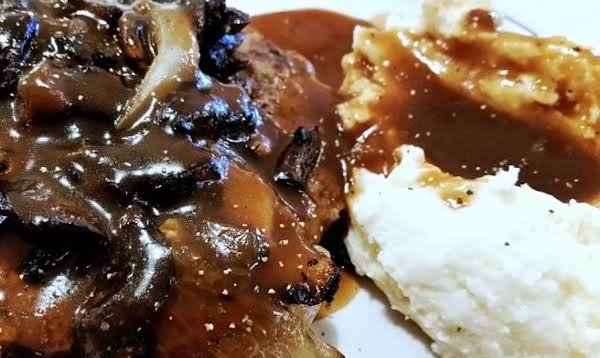 ~ Tasty Chopped Sirloin - Mushroom Onion Gravy ~