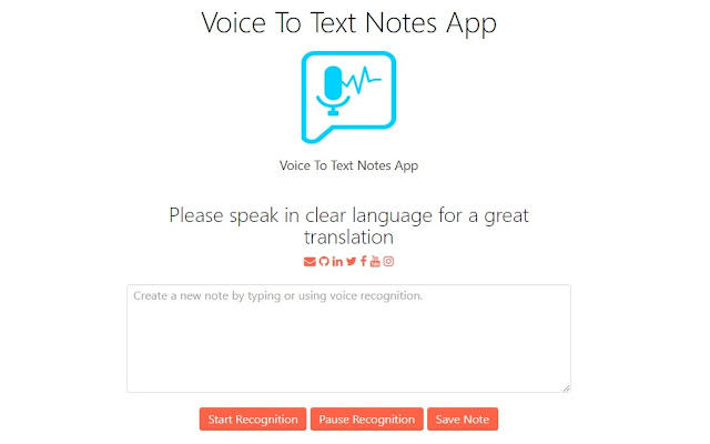 Voice To Text Notes App