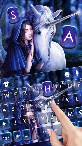 Unicorn Fairytale Keyboard Background screenshot 2