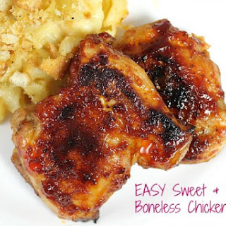Sweet and Spicy Boneless Chicken Thighs Recipe