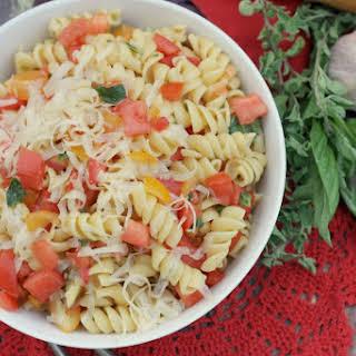 Fusilli with Raw Tomato Sauce.