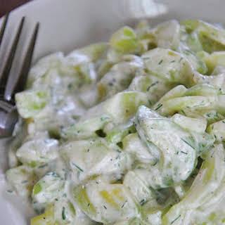 Cucumber Dill Salad.