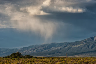 Photo: Virga over Sangre de Cristo mountains, taken from Alamosa NWR, CO