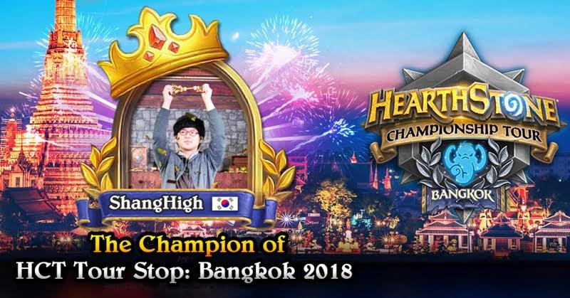 [Hearthstone] ShangHigh จากเกาหลีใต้คว้าชัยรายการ HCT Tour Stop: Bangkok