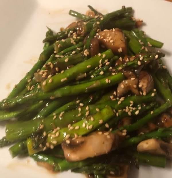 Teriyaki Asparagus And Mushroom Stir Fry Recipe