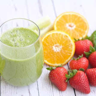 Strawberry Orange Green Smoothie