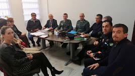 Imagen de la reunión mantenida por la Junta Local de Seguridad.