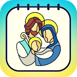 Bible & Jesus Coloring Book Icon