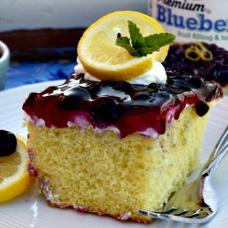 Lemon Blueberry Cream Cake.