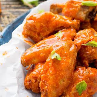 Crispy Buffalo Chicken Wings.