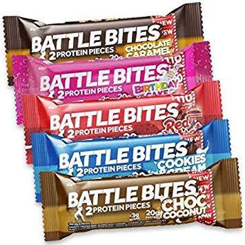 Battle Bites Protein Bars 12 x 62g - Mixlåda