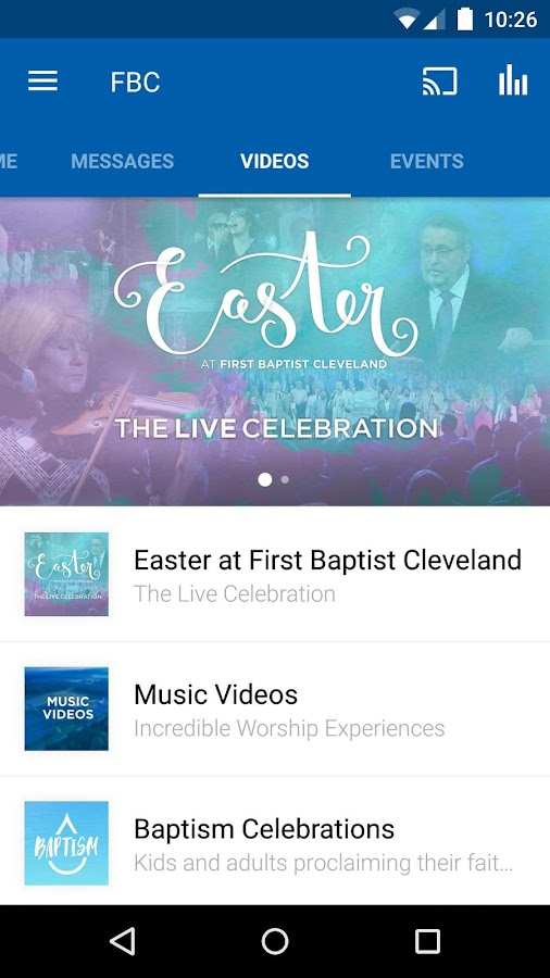 First Baptist Cleveland- screenshot