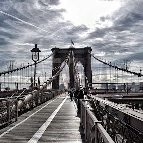 brooklyn brigde by Anita Meis - Buildings & Architecture Bridges & Suspended Structures ( brooklyn bridge, manhattan, new york, city, brooklyn )
