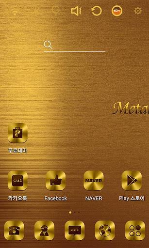 Gold Metal Launcher Theme