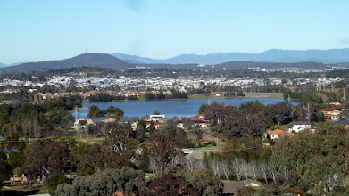 Photo: View from Ridge over Gungahlin Pond to Palmerston and Black Mountain