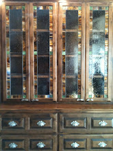 Photo: Monte Ne China Cabinet Glass, stained glass, leaded glass, armoire glass, custom glass, beautiful glass, handmade.