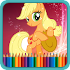 Coloring Book for Little Pony