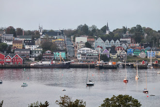 Photo: Lunenburg from the golf course across the bay.