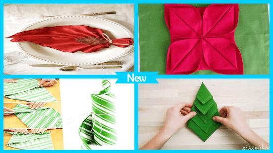 Christmass Fold Napkins Step by Step - náhled