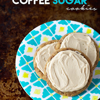 Coffee Sugar Cookies with Coffee Frosting