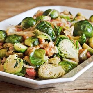 Caramelized Brussels Sprouts with Sherry-Dijon Vinaigrette