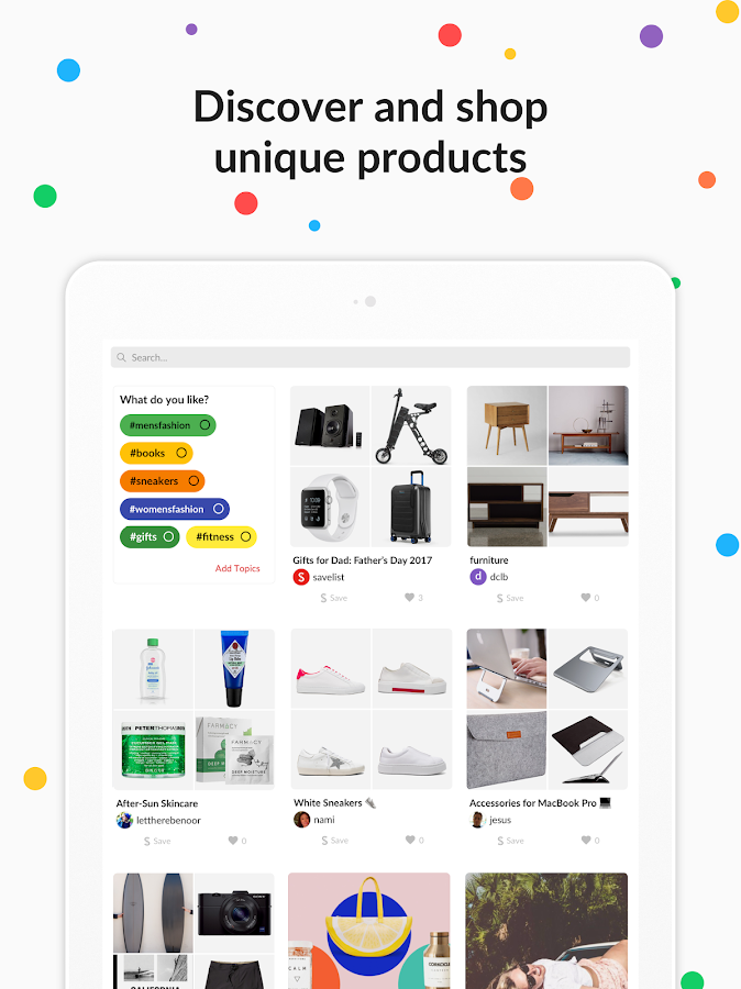 Savelist - Discover, Save & Buy Products- screenshot