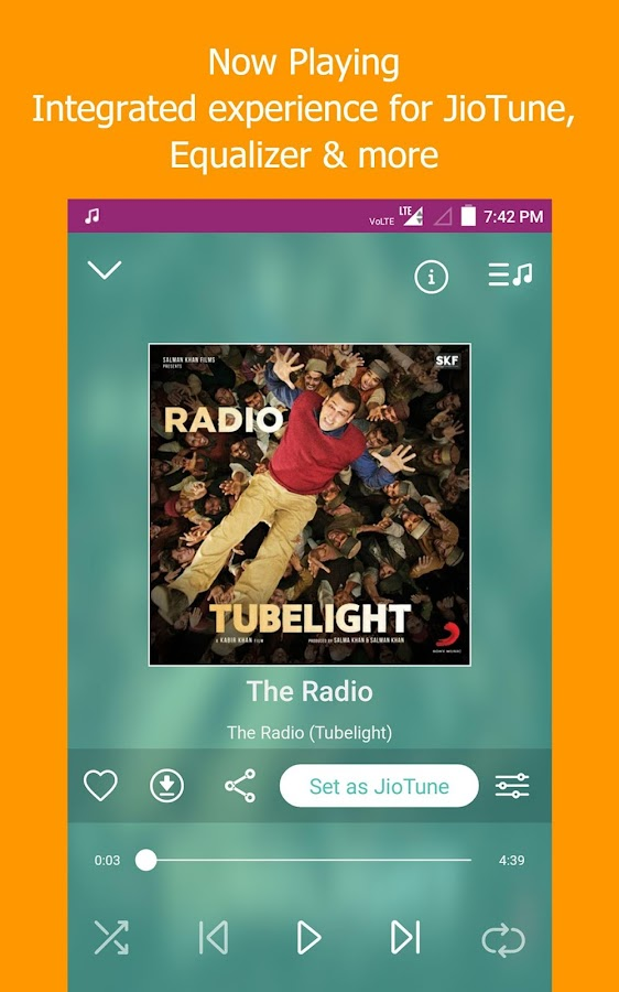 JioMusic - HD Music & Radio- screenshot