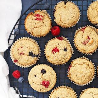 Lemon Berry Oatmeal Muffins (Vegan & Gluten Free).