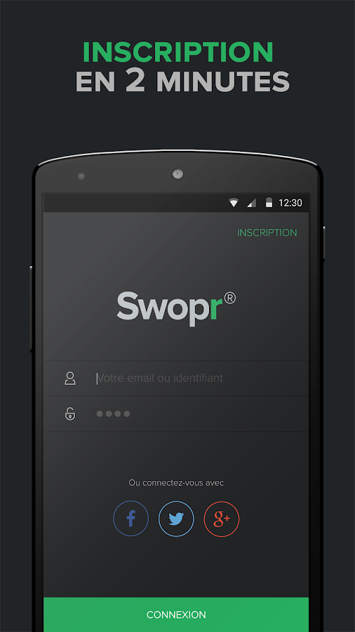 Swopr, smart troc – Capture d'écran