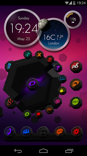 Next Launcher Theme PolYGon 2D
