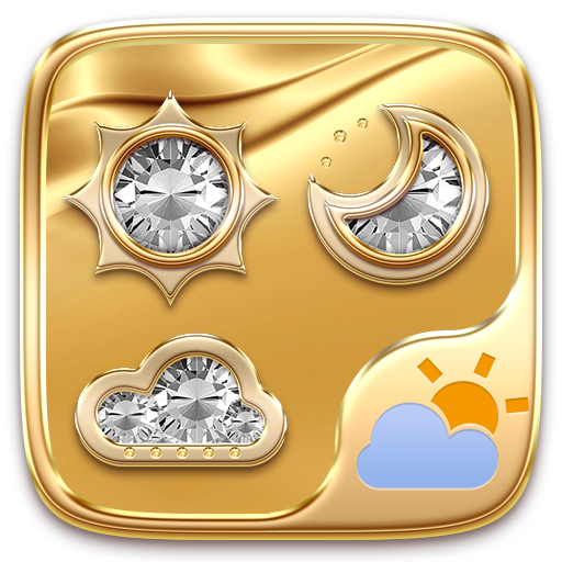 Gold GO Weather Widget Theme