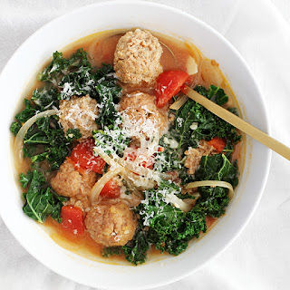 30-Minute Lighter Italian Wedding Soup.