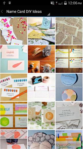 Name Card DIY Design Ideas