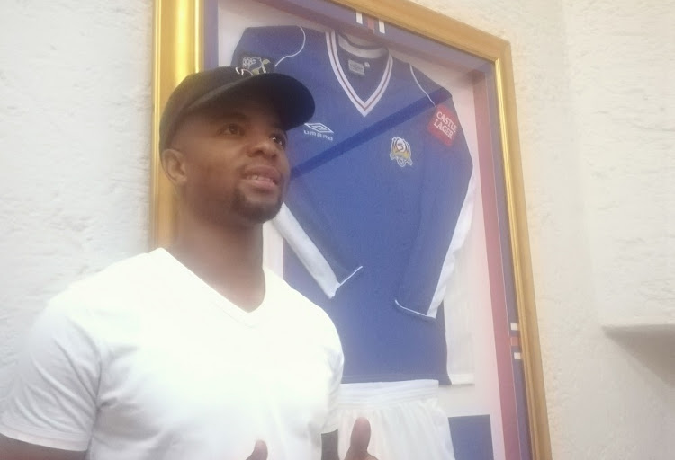 George Lebese at the PSL offices in Johannesburg on January 31 2019, after he signed a six-month loan deal with SuperSport United.