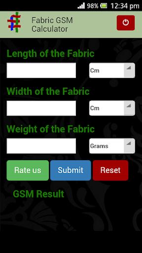 Fabric GSM Calculator