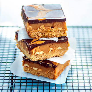 Peanut butter & Soy salted caramel millionaire's shortbread