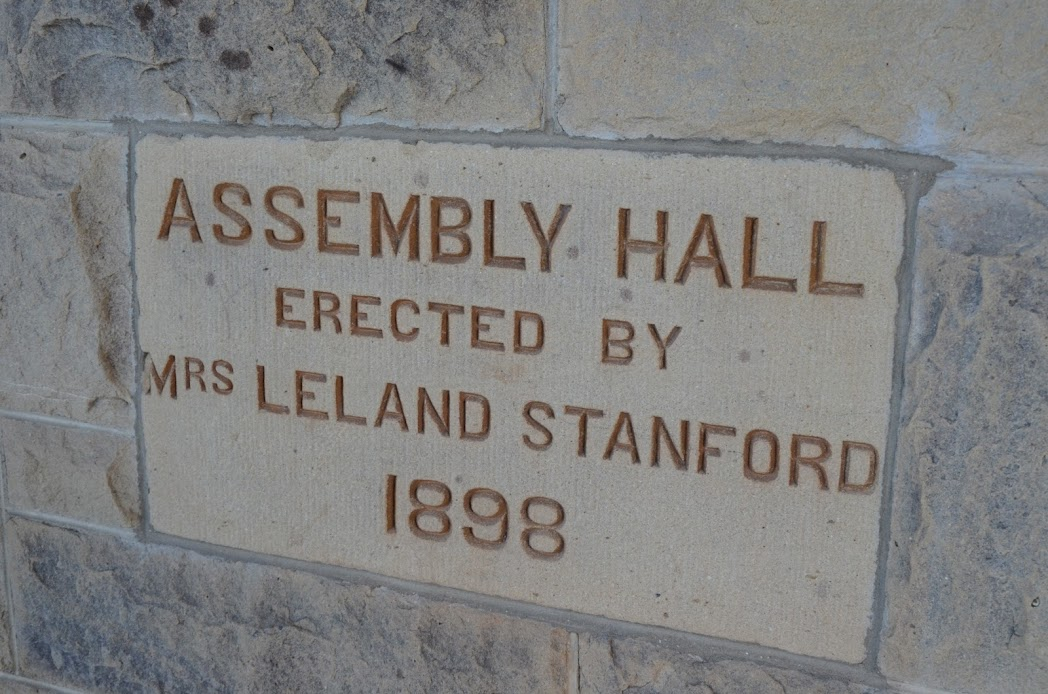Assembly hall by Leland Stanford