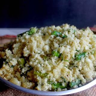 Lemon Asparagus Cauliflower 'Rice'.