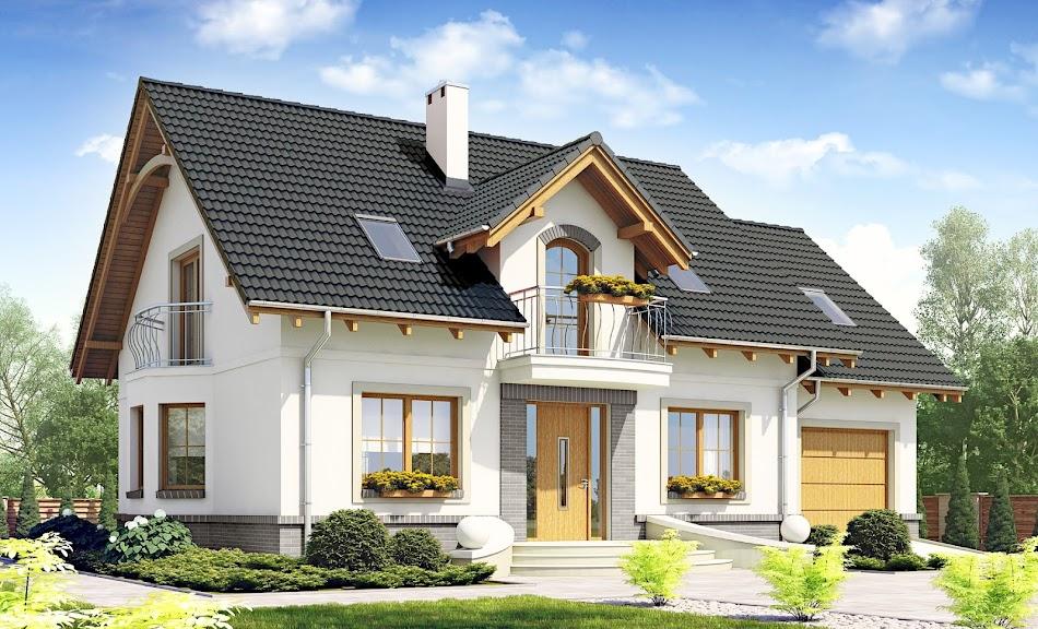 Wizualizacja projektu tygodnia - Dom Dla Ciebie 1 z garażem 1-st. A (TGV-737)