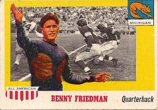 Photo: Benny Friedman 1955 Topps All American RC