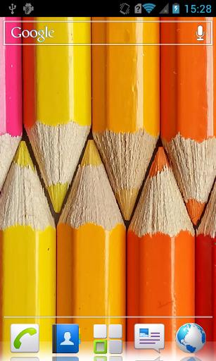 Coloured pencils ive Wallpaper
