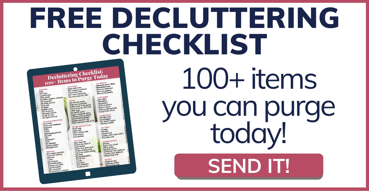 Download 100 Items Decluttering Checklist