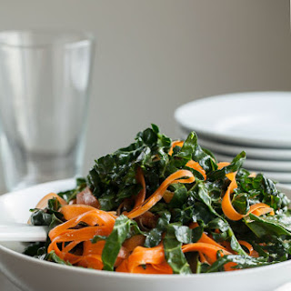 Moroccan Kale and Carrot Ribbon Salad